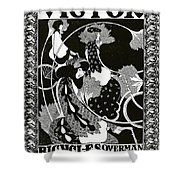 Poster Advertising Victor Bicycles Shower Curtain