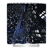 Poster-city 0 Shower Curtain