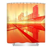 Poster-city 1 Shower Curtain