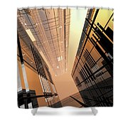 Poster-city 2 Shower Curtain