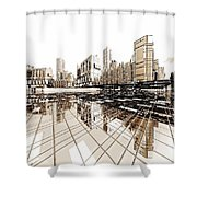Poster-city 4 Shower Curtain