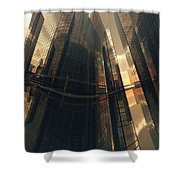 Poster-city 7 Shower Curtain