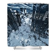 Poster-city 8 Shower Curtain