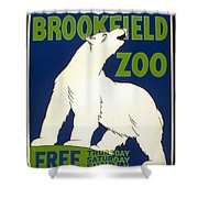 Poster For The Brookfield Zoo Shower Curtain