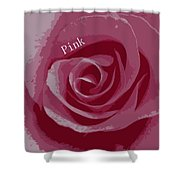 Poster Rose Shower Curtain