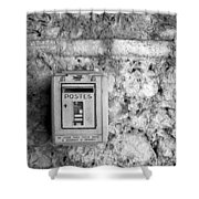 Postes In Black And White Shower Curtain