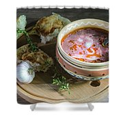 Pot Of Ukrainian Borsch Shower Curtain