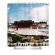 Potala Palace Dalai Lama Home Place. Tibet Kailash Yantra.lv 2016  Shower Curtain
