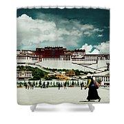 Potala Palace. Lhasa, Tibet. Yantra.lv Shower Curtain