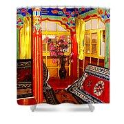 Potala Tea Room Shower Curtain