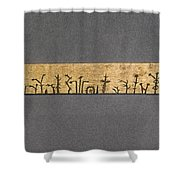 Potawatomi Medicine Stick Shower Curtain