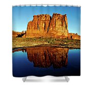 Pothole Reflections - Arches National Park Shower Curtain