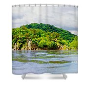 Potomac Palisaides Shower Curtain