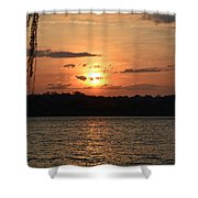 Potomac River Sunset In March Shower Curtain