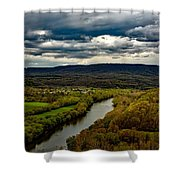 Potomac River Valley - West Virginia Shower Curtain