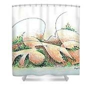 Potshards Shower Curtain