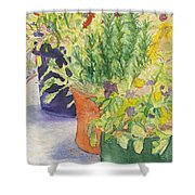 Potted Beauties  Shower Curtain