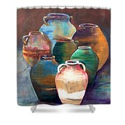 Pottery Jars Shower Curtain