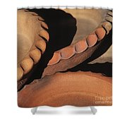 Pottery Shadows Shower Curtain