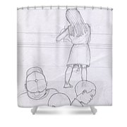 Pottie Break Shower Curtain