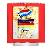 Potus For All Black Brown, Red, Yellow, White Shower Curtain