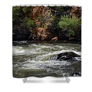 Poudre River Shower Curtain