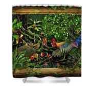 Poultrified Garden Of Eden Shower Curtain