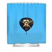 Pow Mia Balloon Shower Curtain