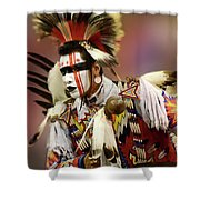 Pow Wow Chicken Dancer 1 Shower Curtain