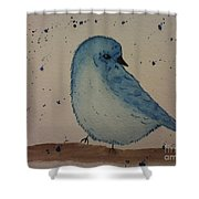 Powder Blue Shower Curtain by Ginny Youngblood
