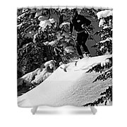 Powder Hound Bw Version Shower Curtain