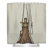 Powder Pouch Shower Curtain