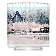 Powell Gardens Chapel Shower Curtain