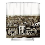 Powell Street Between Sacramento And California San Francisco Circa 1866 Shower Curtain