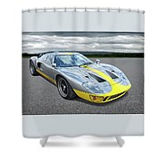 Power And Performance - Ford Gt40 Shower Curtain