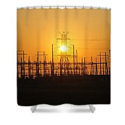 Power Shower Curtain by David Lee Thompson