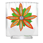 Power Flower Shower Curtain
