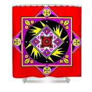 Power Generator Of The Bird People Of Deneb Vii Shower Curtain by Eikoni Images