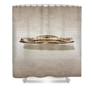 Power Glide Hood Emblem Shower Curtain