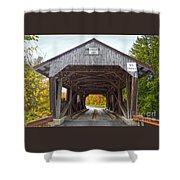 Power House Covered Bridge Shower Curtain