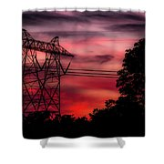 Power In Red Shower Curtain
