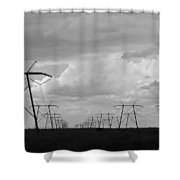 Power In The Sky Shower Curtain