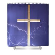 God Power Shower Curtain
