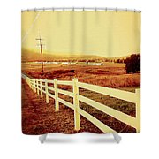 Power Lines 1 Shower Curtain