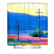 Power Lines 3 Shower Curtain