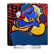 Power Nap  Picasso By Nora Shower Curtain