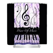 Power Of Music Purple Shower Curtain