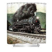 Power On The Curve Shower Curtain
