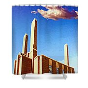 Power Station Shower Curtain