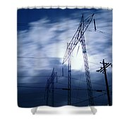 Power Surge Shower Curtain